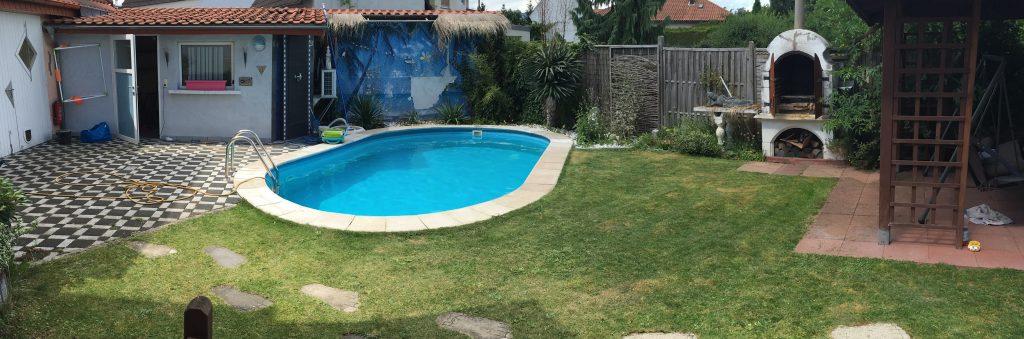 Garten mit Pool Panorama