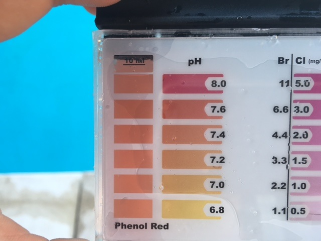 Poolwasser Testergebnis 2
