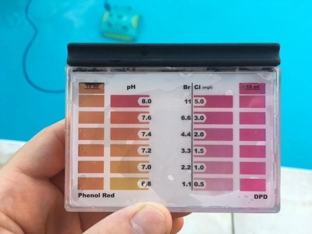 Poolwasser Testergebnis 3