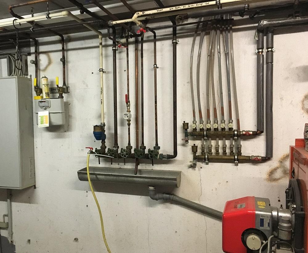 Verteilung Wasserleitungen