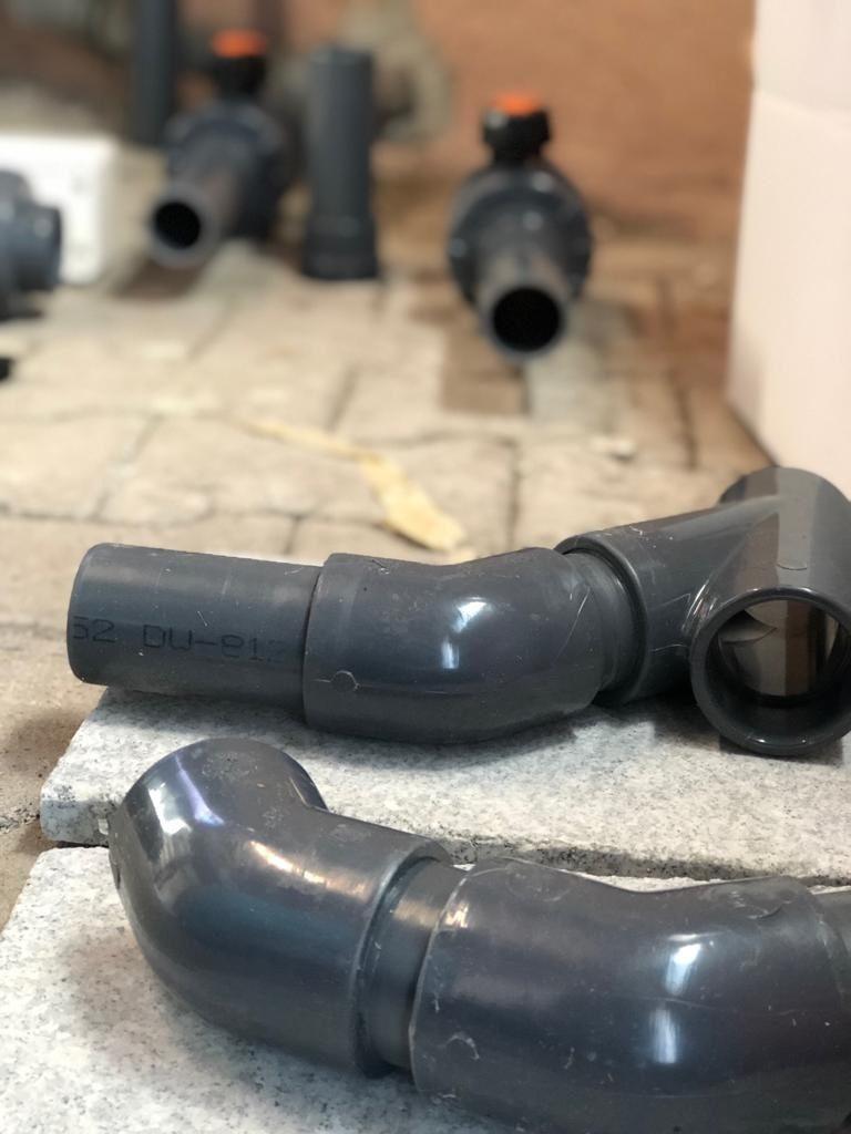 PVC Rohre geklebt